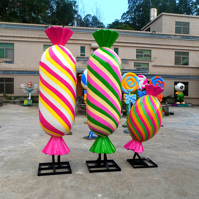 Life size hard lollipop candy modern decoraction crafts